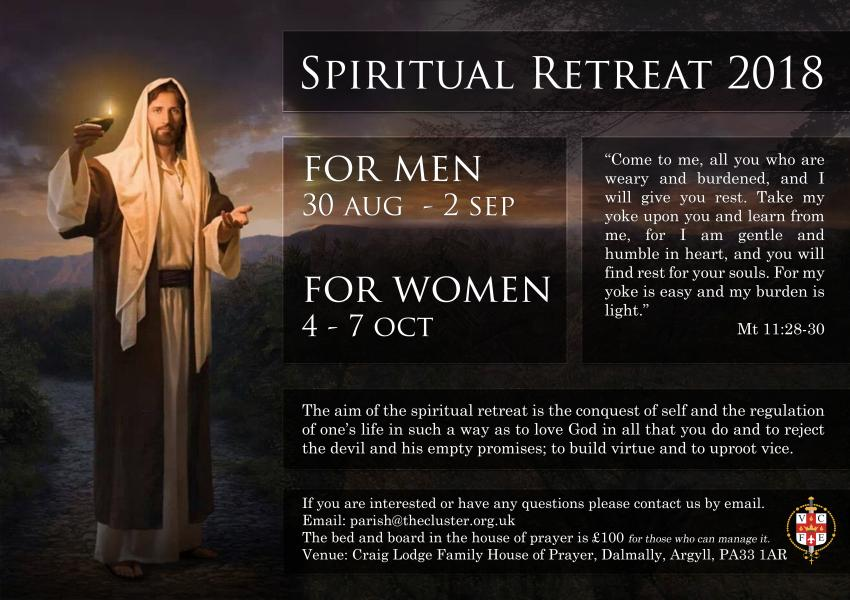 Spiritual Retreat 2018